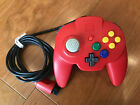 Nintendo 64 Hori Pad Mini Controller - Solid Red - USED - Tested & Working