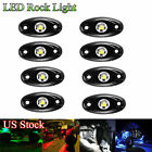 8pcs 3-CREE 9W LED Rock Light Kit For Off-Road Wrangler Boat Tractor Jeep Truck
