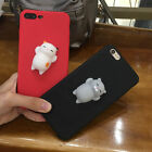 Lovely Squishy 3D Lazy Sleep Cat kitten Soft phone Case Cover For Samsung iphone