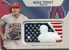2017 Topps Independence Day MLB Logo Patch #IDMLMTR Mike Trout - NM