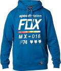 "FOX RACING PULL OVER MENS HOODY JUMPER ""DISTRICT"" IN BLUE MX MOTOCROSS SKATE"