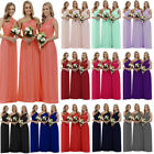 Stock Long Chiffon Bridesmaid Dresses Wedding Evening Party Prom Ball Gowns6-18