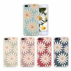 TPU Clear Slim Cute Girly Flower Pattern Soft Case Cover For  iPhone 7 6 6s Plus