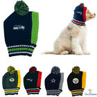 NFL Fan Gear Pet Dog Hat Knitted Cold Weather For Dogs Pets -PICK YOUR TEAM