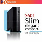 Upright/Horizontal Micro ATX/ ITX Desktop Slim PC Case with 400W Power Supply