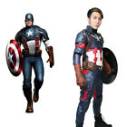Xcoser New Design Civil War Captain America 3 Steve Rogers Cosplay Costume