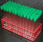 15 ml Test tubes , 125 mm x 17 mm Clear plastic tubes with choice of stopper