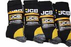 Multipack JCB Men's Heavy Duty Extra Strong Professional Work Socks-Size 6-11