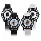 Men Stainless Steel Back Leather Band Casual Watch Fashion  Wristwatch Gift YG