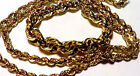 SOLID YELLOW GOLD GRADUATED DIAMOND CUT ROPE CHAIN 18 INCHES LONG  NO RESERVE
