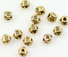 wholesale Antique Gold Exquisite Cube Jewel Charm Bead interval free shipping