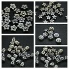 Wholesale 50/100PCS Tibetan Silver Flower Leaf Charms Spacer Beads 6/7/8/9mm