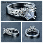 Women's Silver Cubic Zirconia Ring Jewerly Stainless Steel Fashion Womens Ring