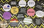Stranger Things inspired 38mm Pin Badge Set Will, Mike, Eleven, Dustin, Lucas