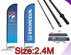 Custom 2.4M Feather flags Double / Single Sided Business Sign Flying Banners