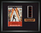 BOND 007  For Your Eyes Only     Roger Moore  FRAMED MOVIE FILMCELLS £17.99 GBP