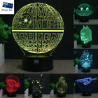 Star Wars Death Star 3D LED Night Light 7 Colour Touch Table Desk Art Lamp Gifts $23.88 AUD