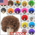 US Fashion Women Men Hair Short Curly Afro Clown Party Cospl