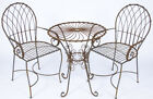 Wrought Iron Table and Chair Set Metal Patio Furniture Bistro Set