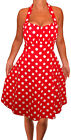 LR@ Funfash Plus Size Women Red White Polka Dots Rockabilly Dress Made in USA