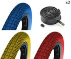 (Pair of ) 20 x 1.95 BMX Bike Coloured Tyres -  20""