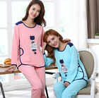 Fall Comfortable Cotton 2pcs Girls' Bed Gown/ Pajama Sets/ Home Wear M/L/XL/2XL