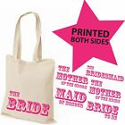 Printed Wedding Favour Large Tote Bags - Gift Bag Present Keepsake Hen Do Party
