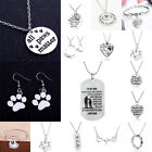 Gifts For Mother Teacher Paw Pendant Dog Tag Charm Chain Nec