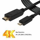 USB C Type C to HDMI Cable USB 3.1 Thunderbolt 3 4K UHD Cable for the New MacBoo