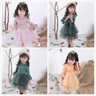 Baby Kids Girls Princess Dress Long Sleeve Tulle Tutu Skirts Casual Party Dress