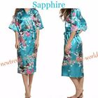 Kimono 8 colours Peacock Premium Dressing Gown Robe Light Weight Lounge Wear UK