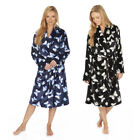 Ladies Butterfly Shawl Collar Dressing Gown Ladies Supersoft Bathrobe XMAS Gift