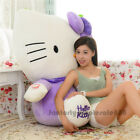 39'' Giant big hung hello kity cat purple plush soft toys dolls kids gift 100cm