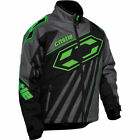 Castle X Men's 2XL Launch SE G2 Black/Green Insulated Snowmobile Jacket 70-9149
