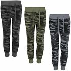Kids Tracksuit Bottoms Teenagers Camo Print Girls Boys Jogging Sweatpants 3-14 Y