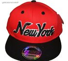 NY kids Snapback cap,red retro flat peak fitted hats, hip hop bling baseball