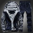 winter running pants - Mens Hooded Winter Warm Sport SuitsOutdoor Running Coat+Pants Boys Fashion new
