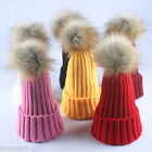 Large Pom Ball Wool Warm Cozy Ski Winter Thickened  Solid Knitted Hat HX