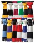 RESULT ACRYLIC FOOTBALL SUPPORTERS BAR STRIPE TEAM SCARF FREE UK POSTAGE!!