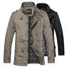 Fashion Mens Jacket Casual Coat Overcoat Outwear Black Military Plus Size M-5XL