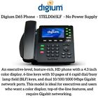 Digium 1TELD065LF D65 Phone, 6-Line SIP with HD Voice,  NO POWER SUPPLY