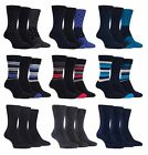 Farah - 3 Pairs Mens Breathable Funky Padded Soft Patterned Cotton Casual Socks