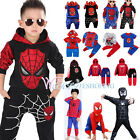 toddlers tracksuits - Kids Boys Spiderman Tracksuits Hoodies Tops + Pants Clothes Set Cosplay Costume