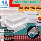 Clear Plastic Quality Containers Tubs with Lids Microwave Food Safe Takeaway <br/> MULTI LISTING - FAST DELIVERY+TRUSTED SELLER+ CHEAPEST