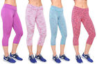 LADIES HIGH WAIST GYM STRETCH YOGA RUNNING 3/4 LEGGINGS FASION LYCRA PANTS