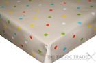 Multi Taupe Spots Polka Dot PVC Tablecloth Vinyl Oilcloth Kitchen Dining Table