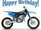 Edible CAKE Image - REC - Dirtbike - Dirt Bike - Happy Birthday! - Cake Topper