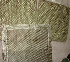 EURO OLIVE GREEN SILK 100% POLYESTER QUILTED KING SIZE SHAM