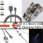 3 in 1 Micro USB Magnetic Adapter Charging Cable For iPhone Android Type-C
