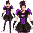 Girls Batty Ballerina Vampire Fairy Bat Halloween Vampiress Fancy Dress Costume